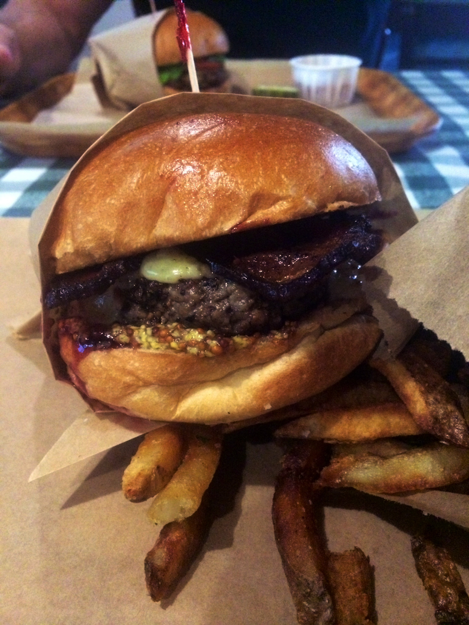 The Whiskey Burger from Rodeo Goat in Ft. Worth!