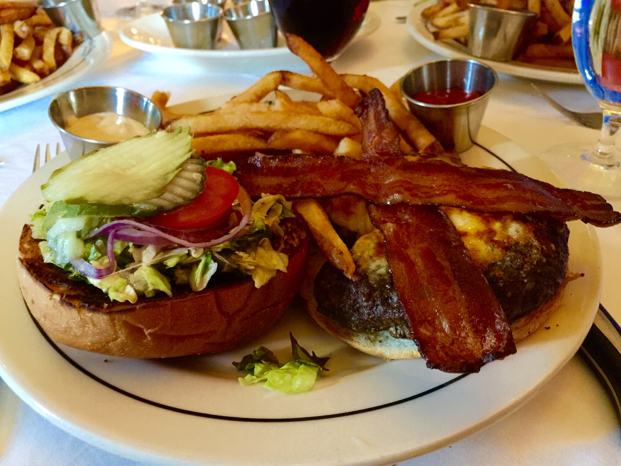 "The Vic   is one of two ""off the menu"" burgers at Vic & Anthony's Steakhouse"