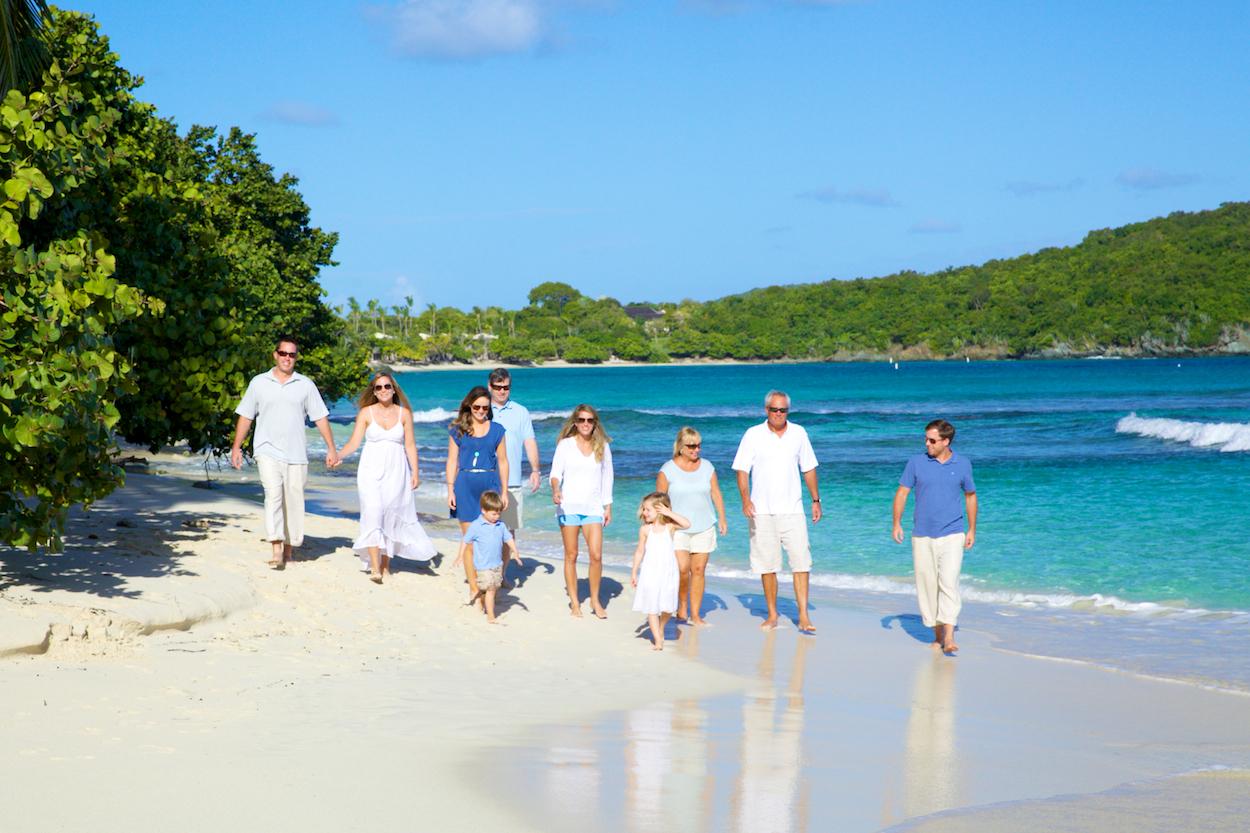 family photography st thomas beaches