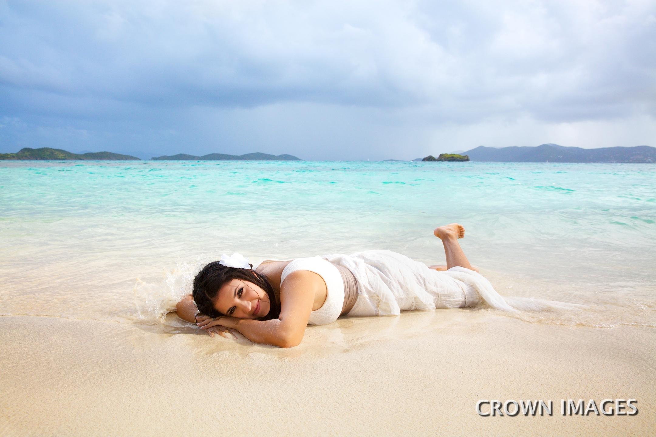 trahs the dress on st thomas beach