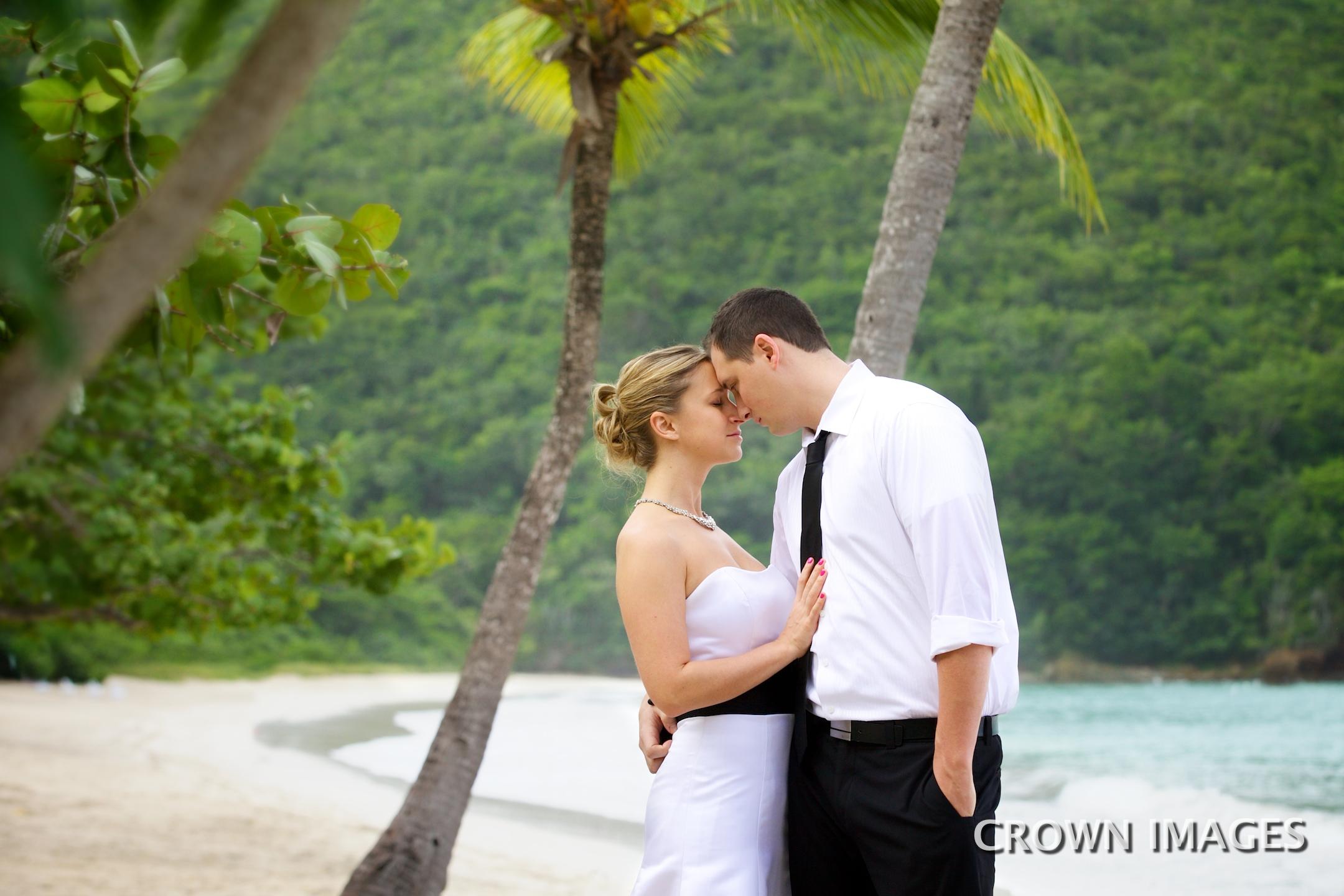 magens beach wedding st thomas