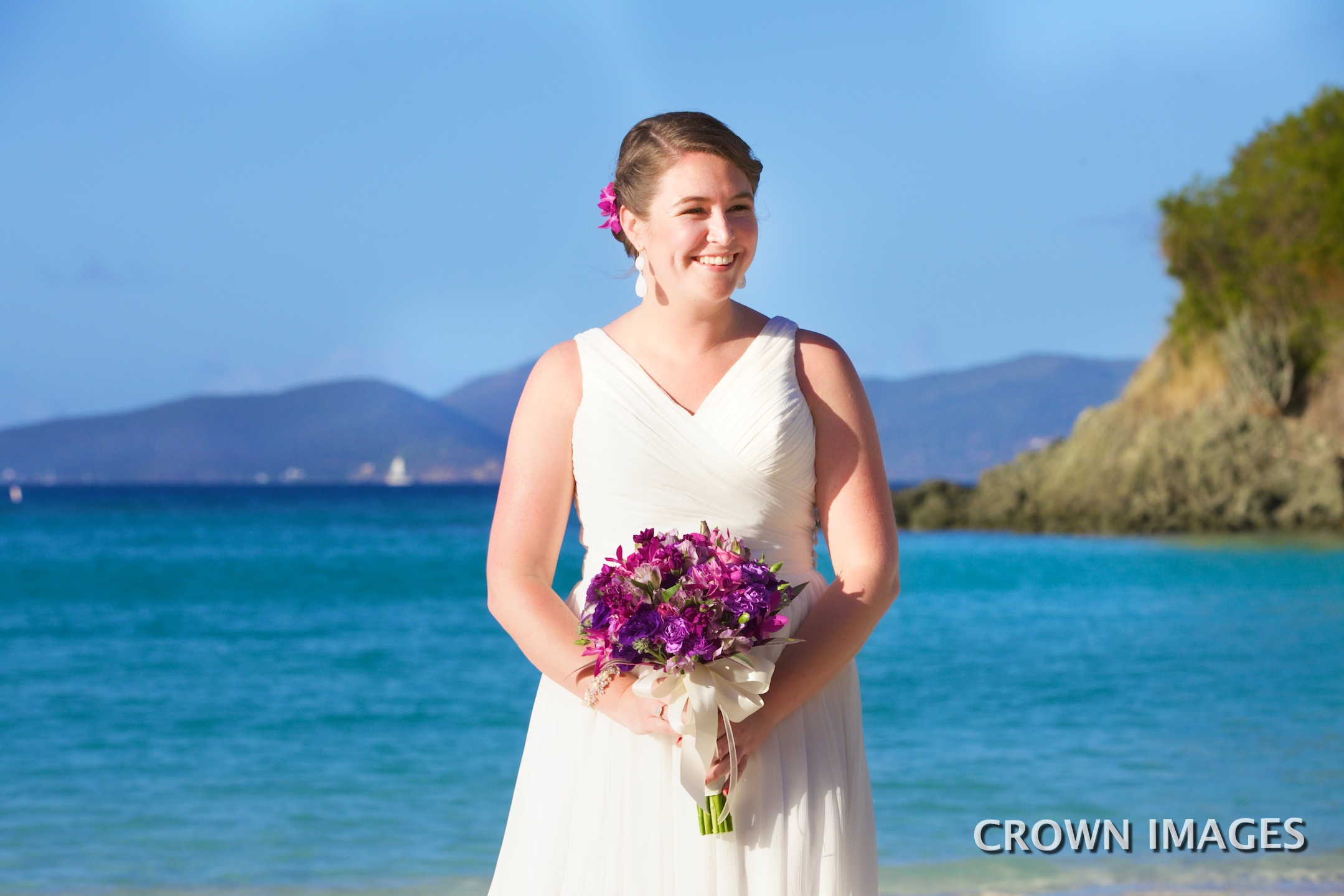 beach bride st john