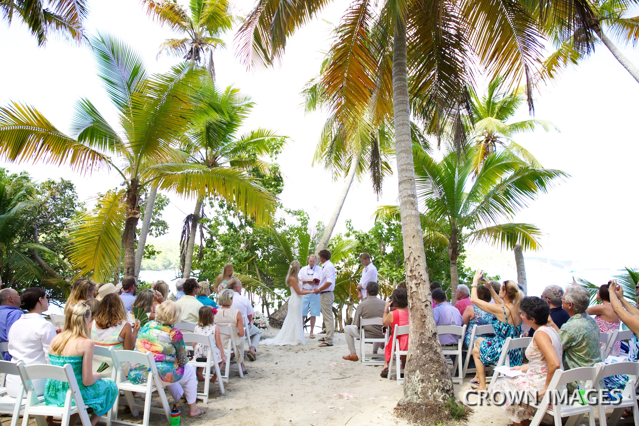 wedding ceremony in the trees of st john