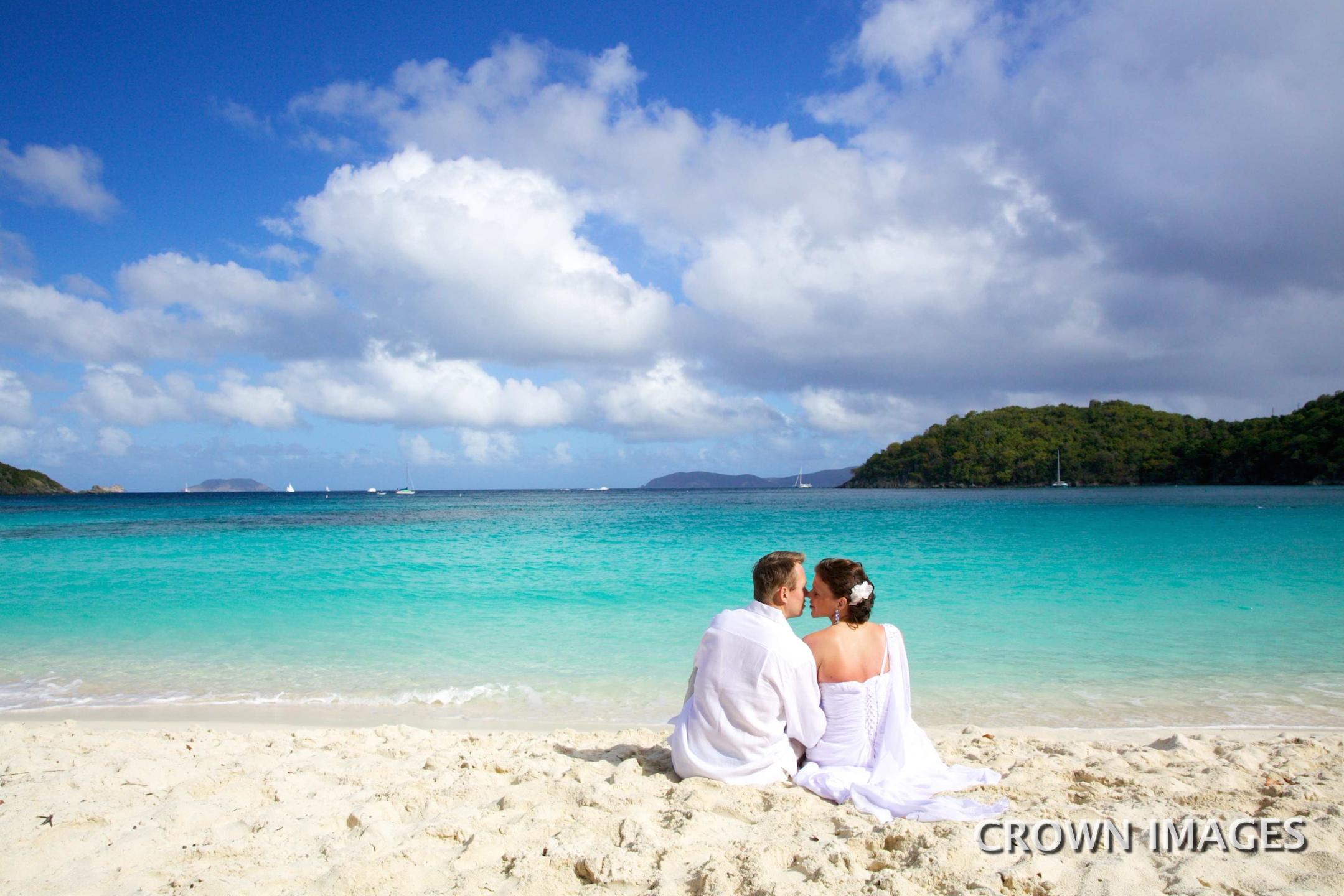 hawksnest beach st john wedding