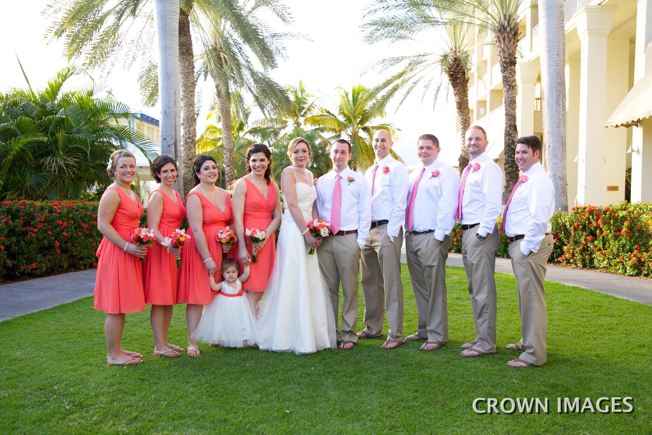 wedding party marriott st thomas