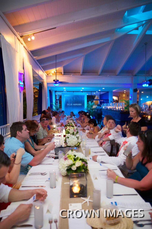 havana blue wedding reception
