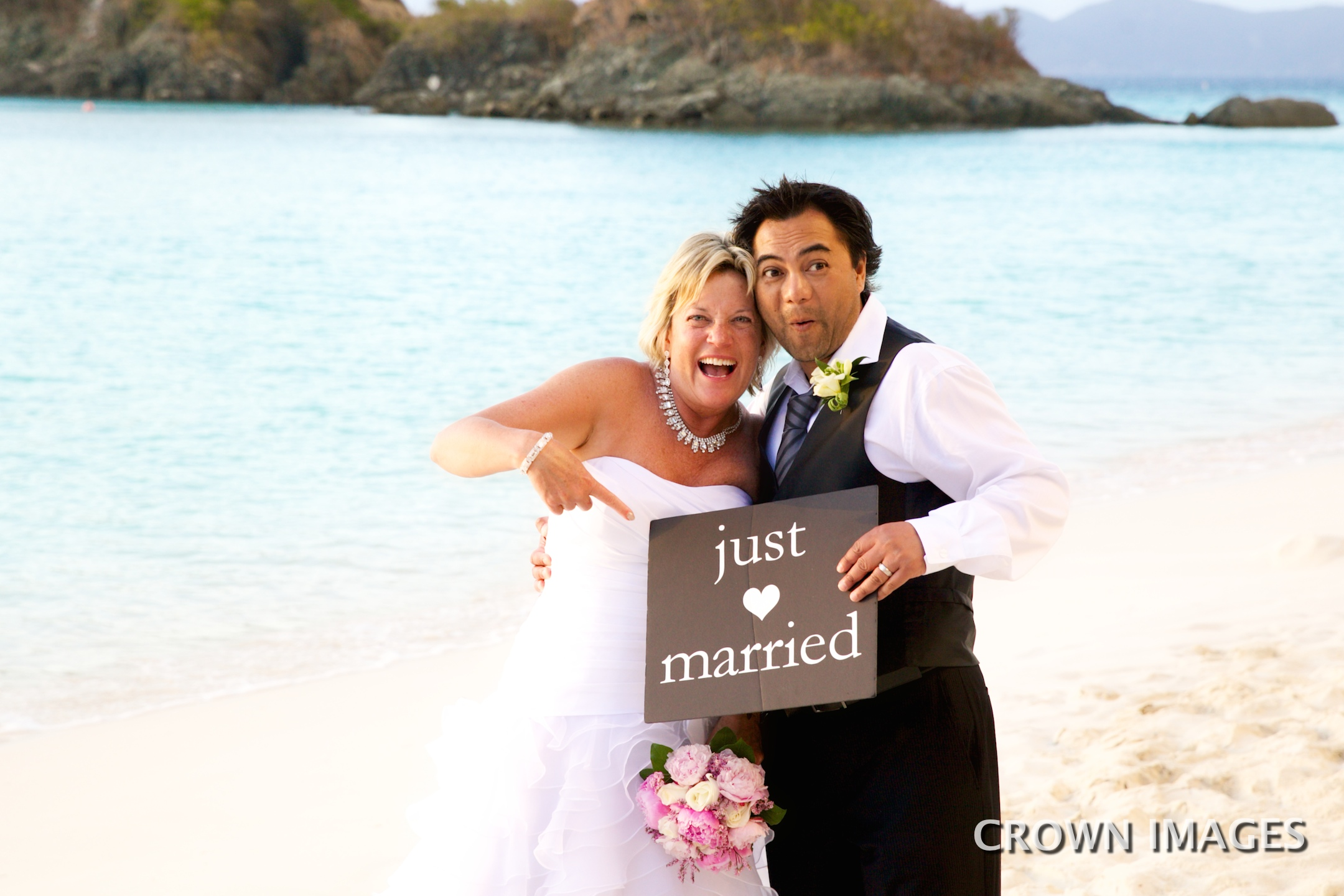 just married sign on st john