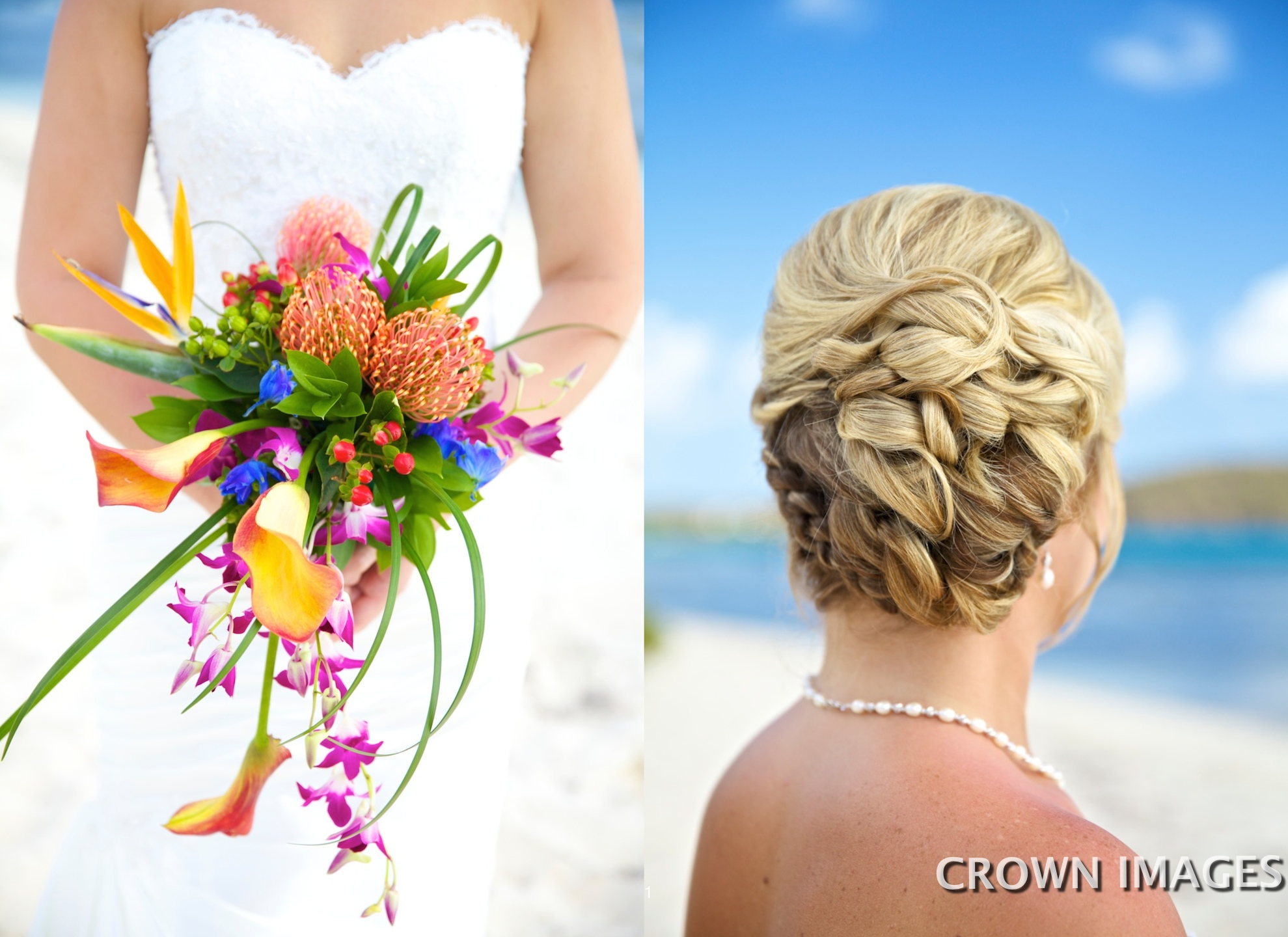 bridal hairstyle for the beach usvi