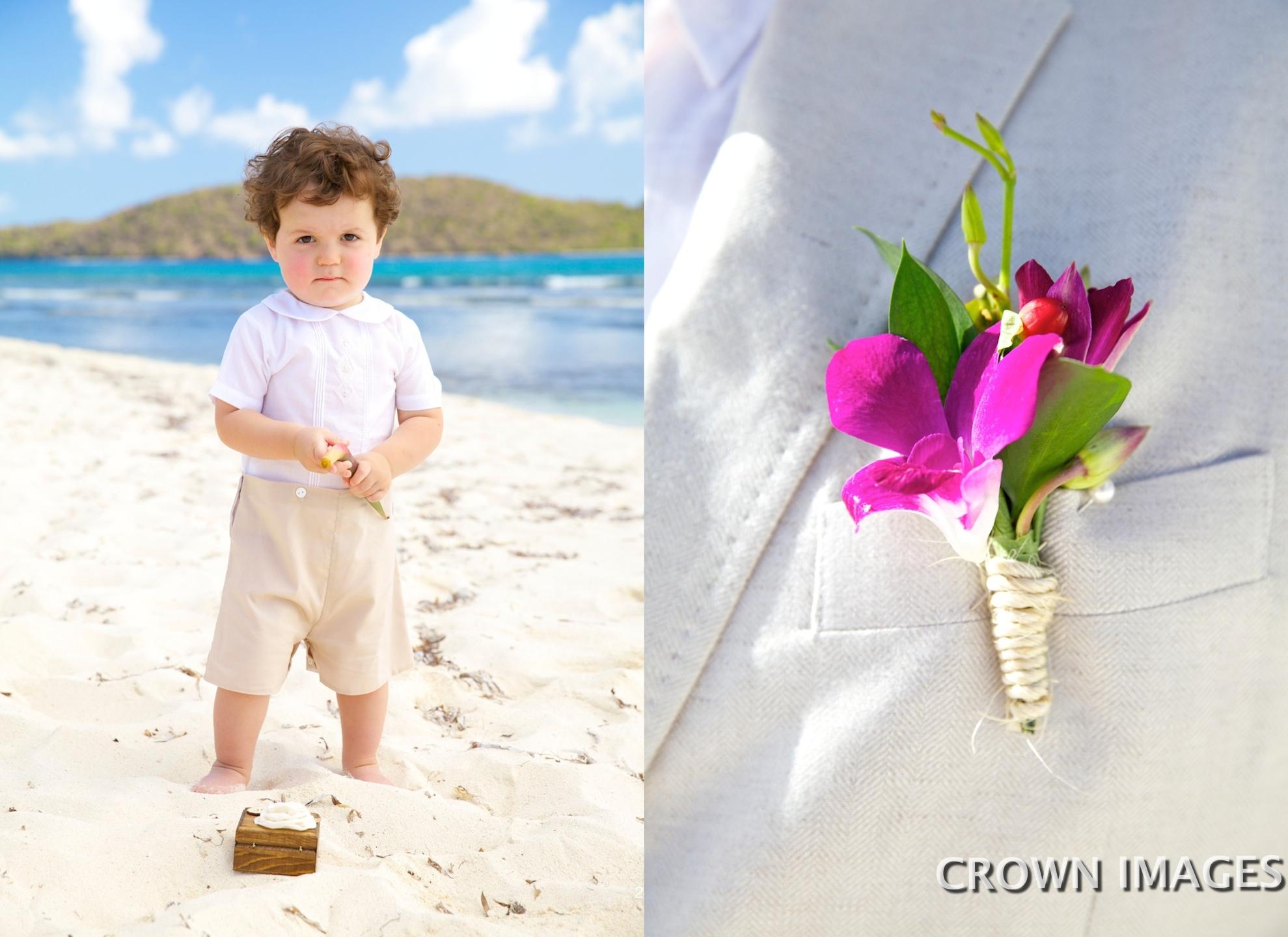 beach wedding photos st thomas