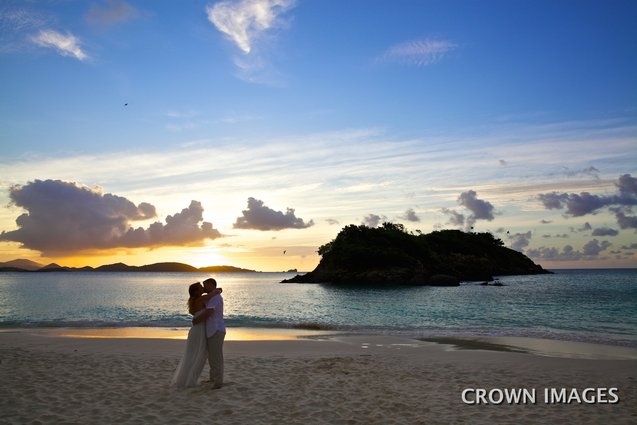 trunk beach sunset wedding