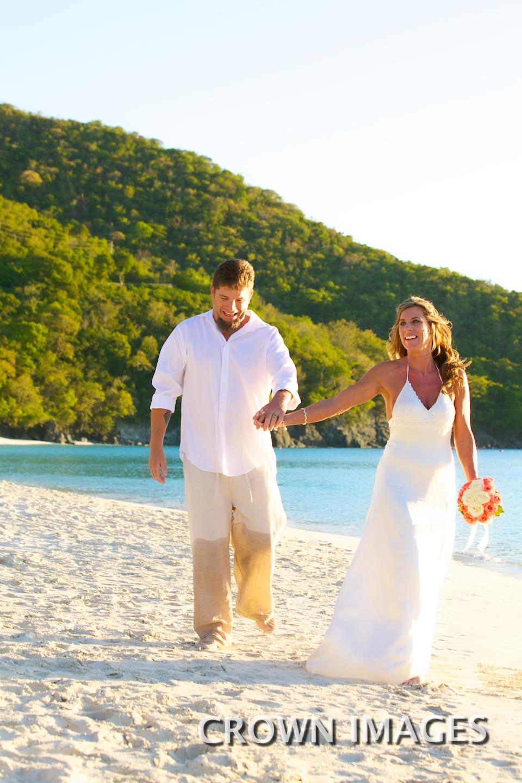 beach wedding on st john