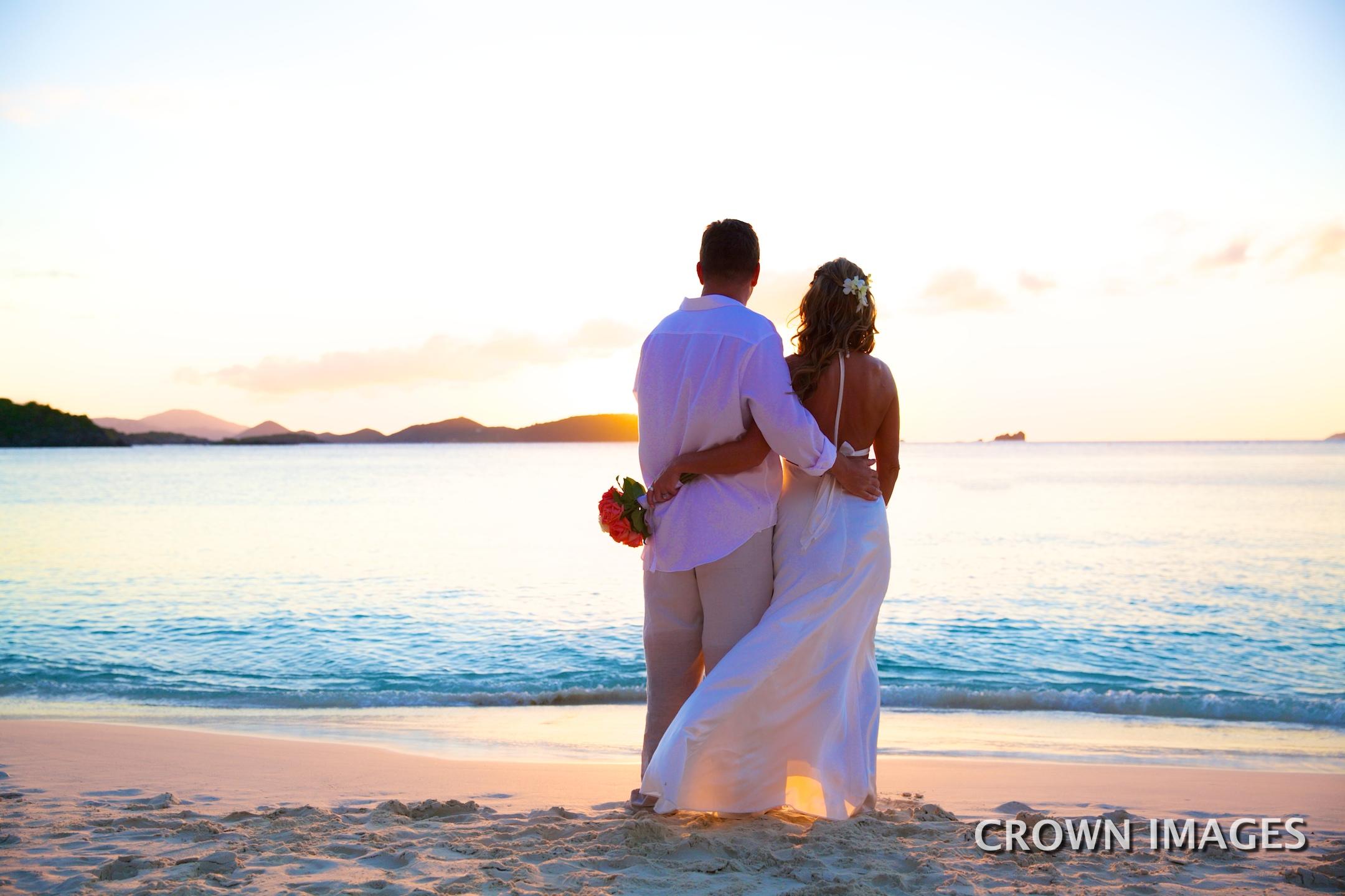 sunset wedding photos virgin islands