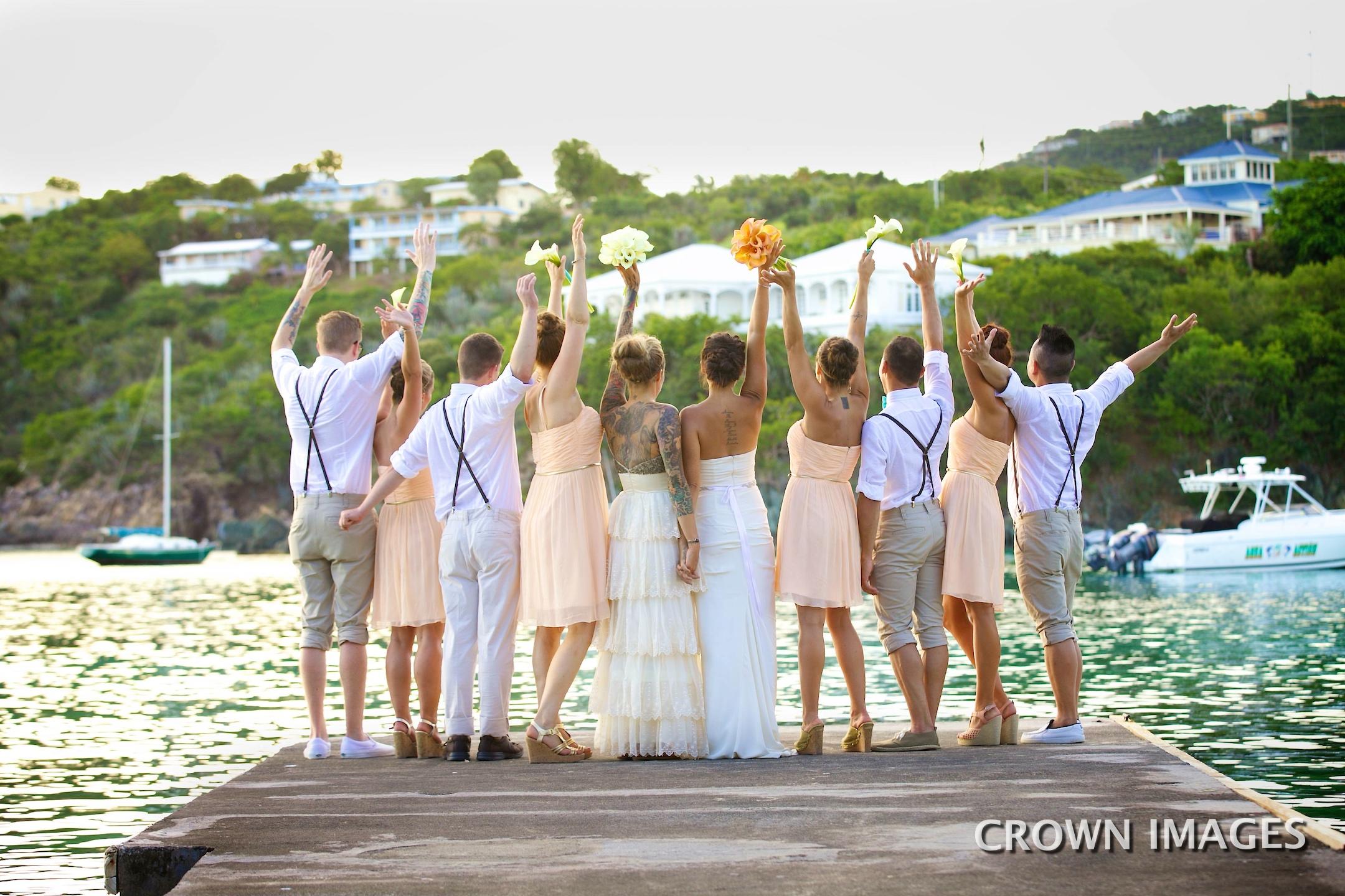 fun wedding photos destination