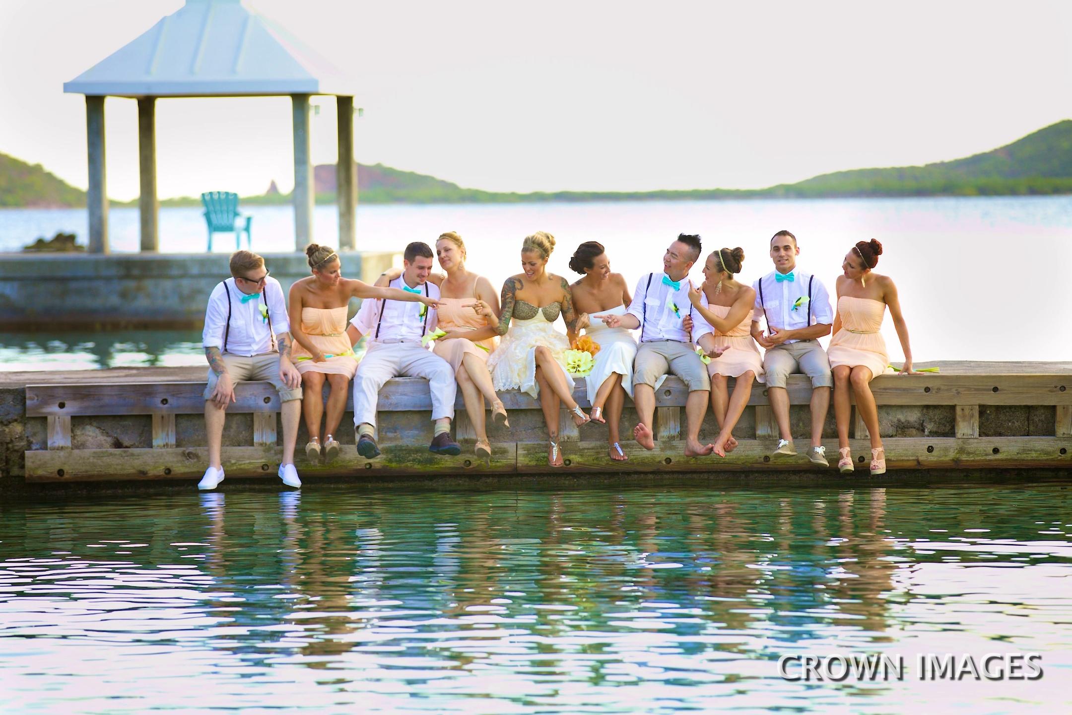 wedding photos on st thomas at secret harbor