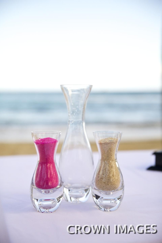 sand ceremony for a beach wedding