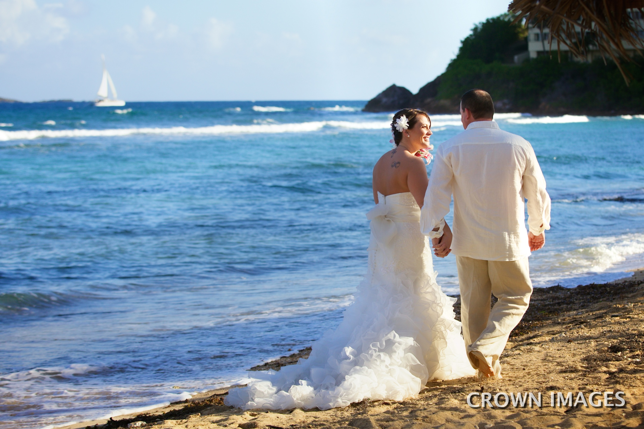 sunset wedding on the beach st thomas