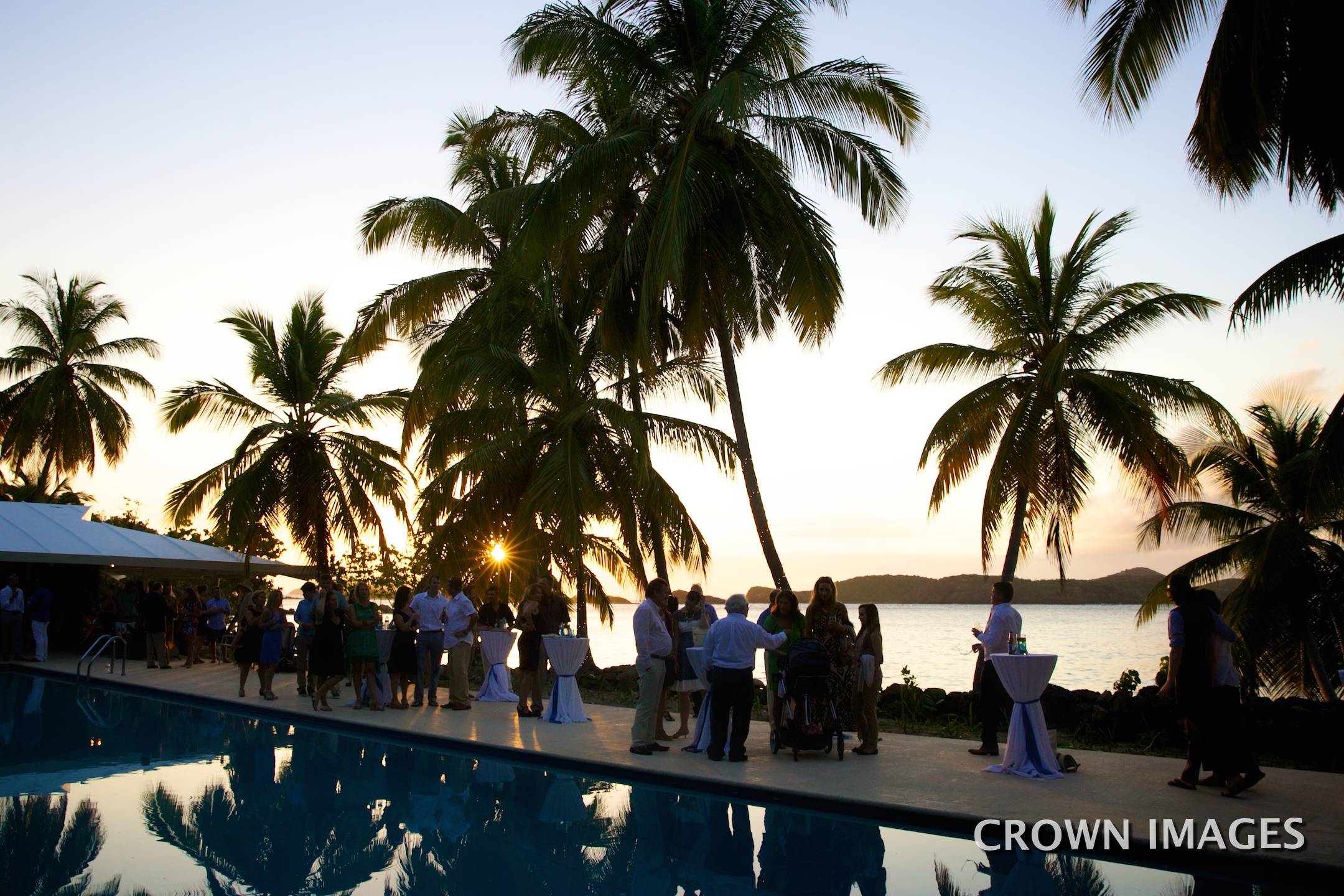 wedding at sunset on st thomas