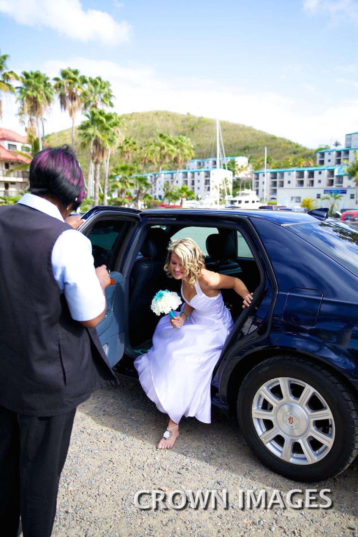 limo transportation for a wedding st thomas
