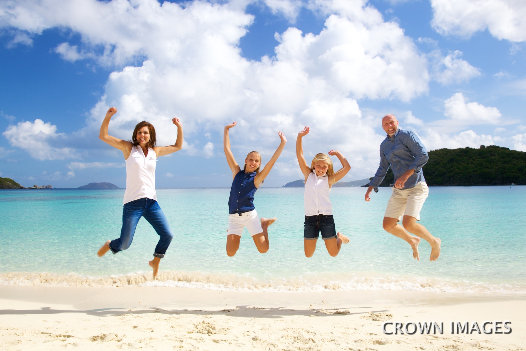 fun beach photos on st john of family