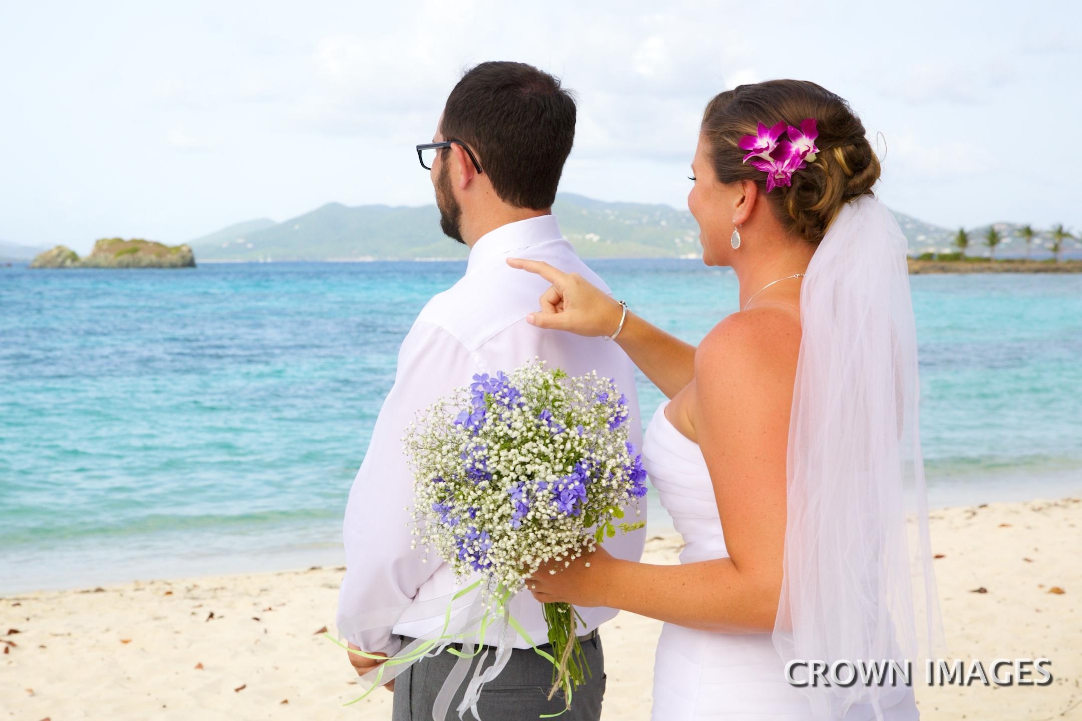 first look for bride and groom virgin islands