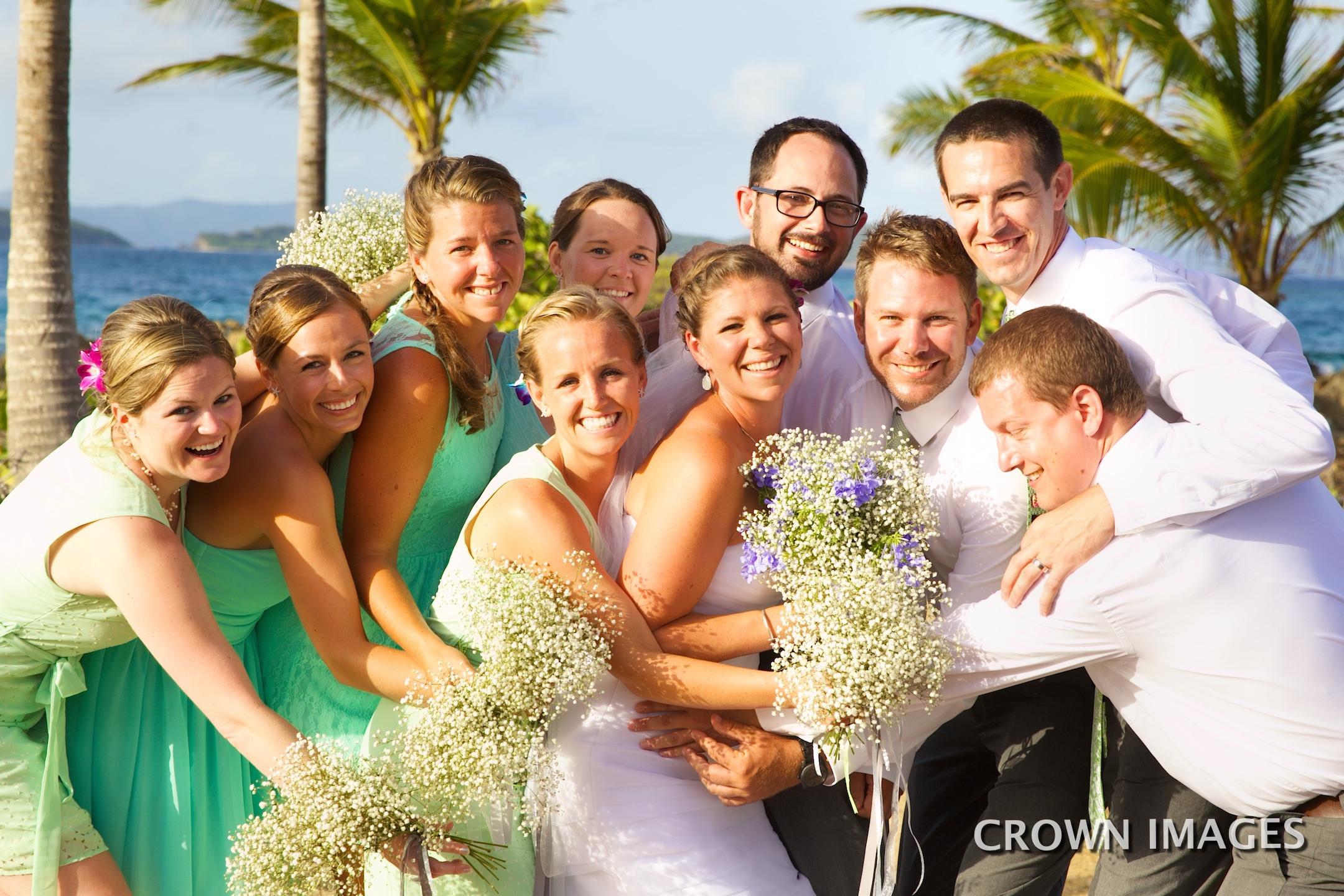 fun wedding photos virgin islands