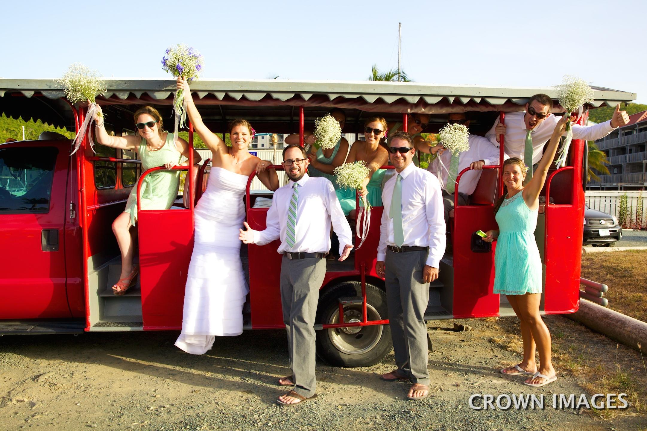 wedding transportation on st thomas