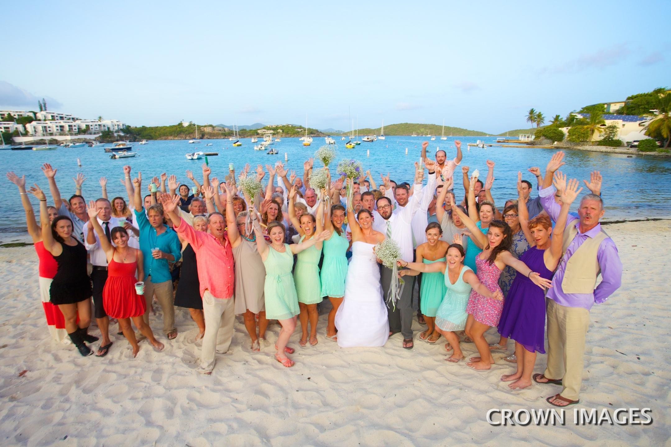 wedding group photos st thomas