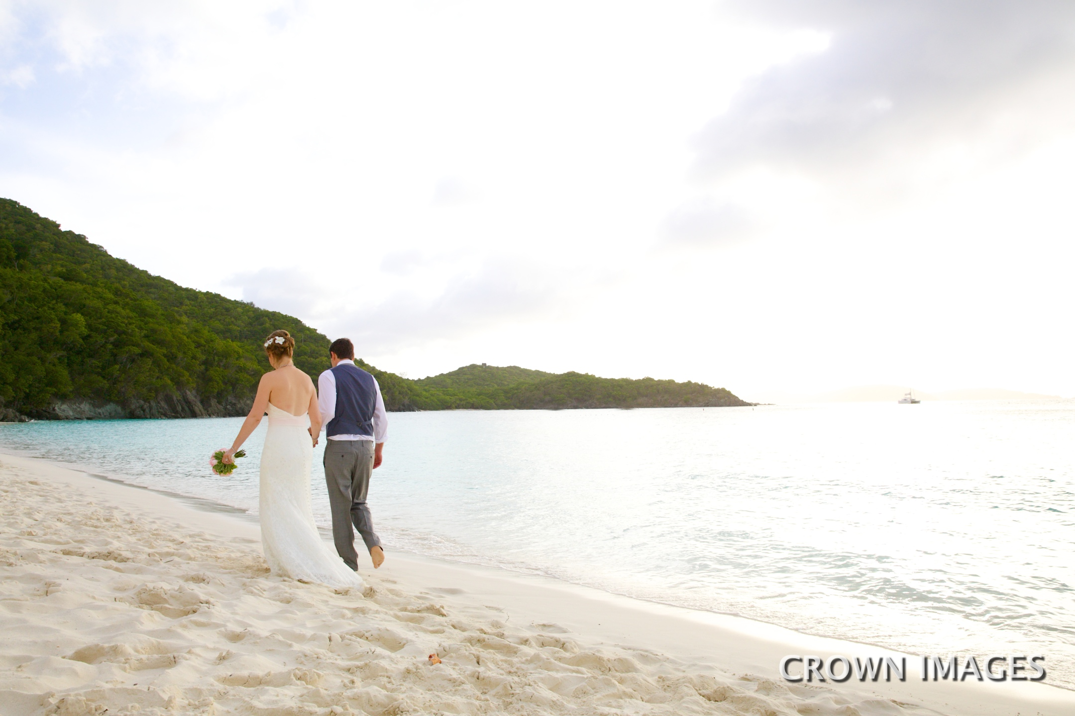 st john wedding photos on the beach