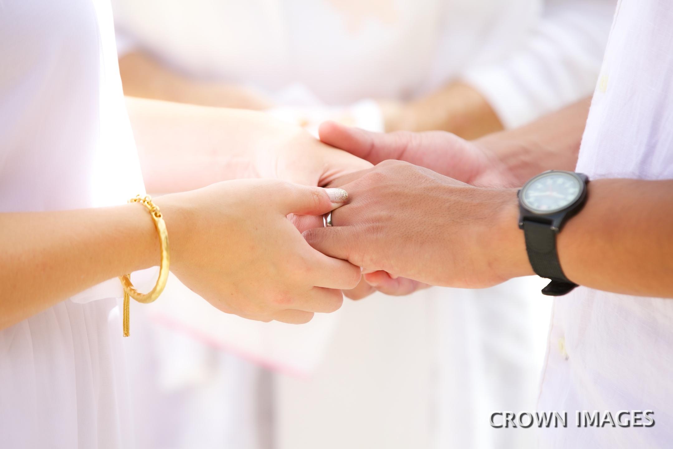 beach wedding ceremony on st john