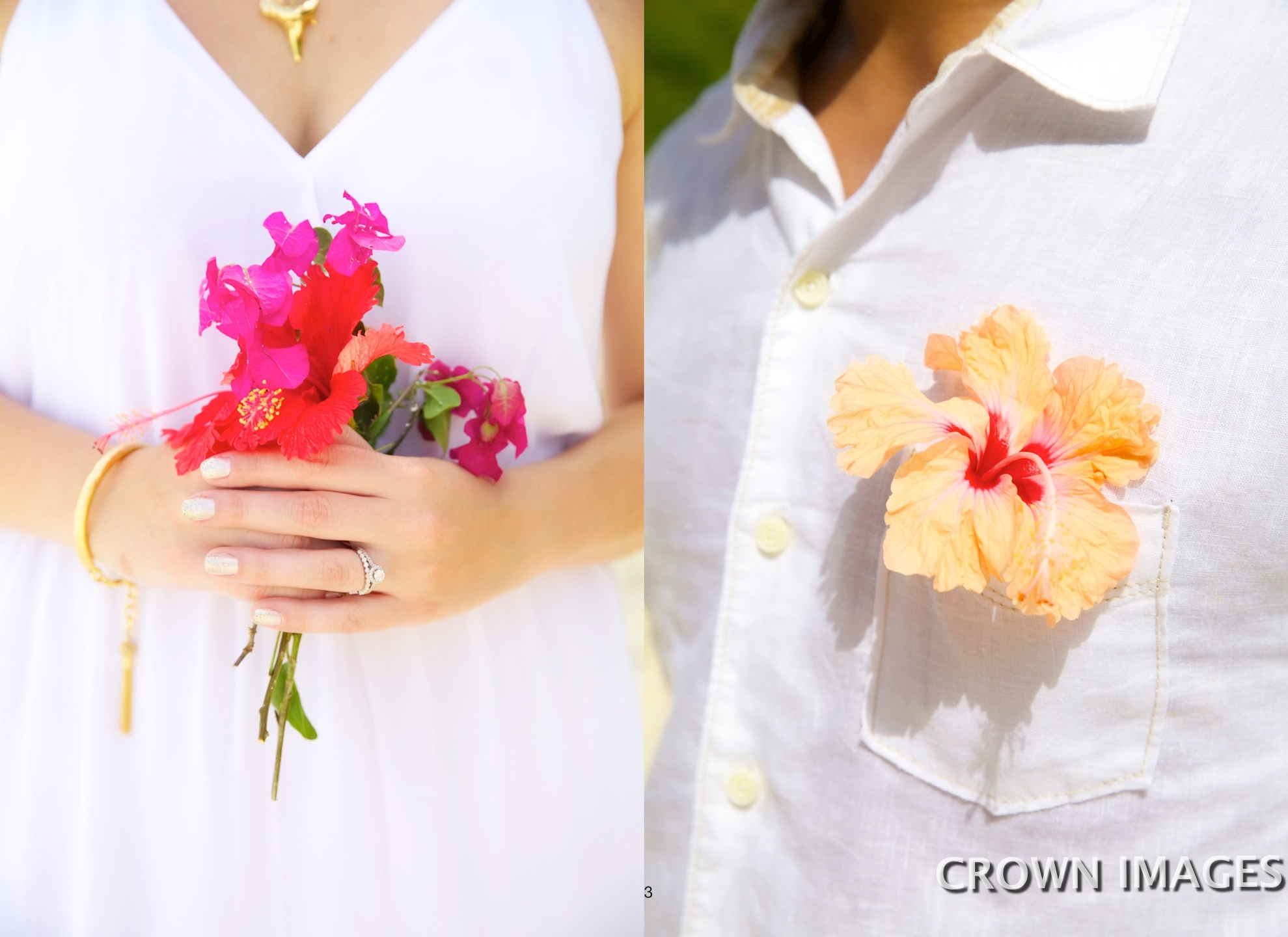 wedding flowers on st john