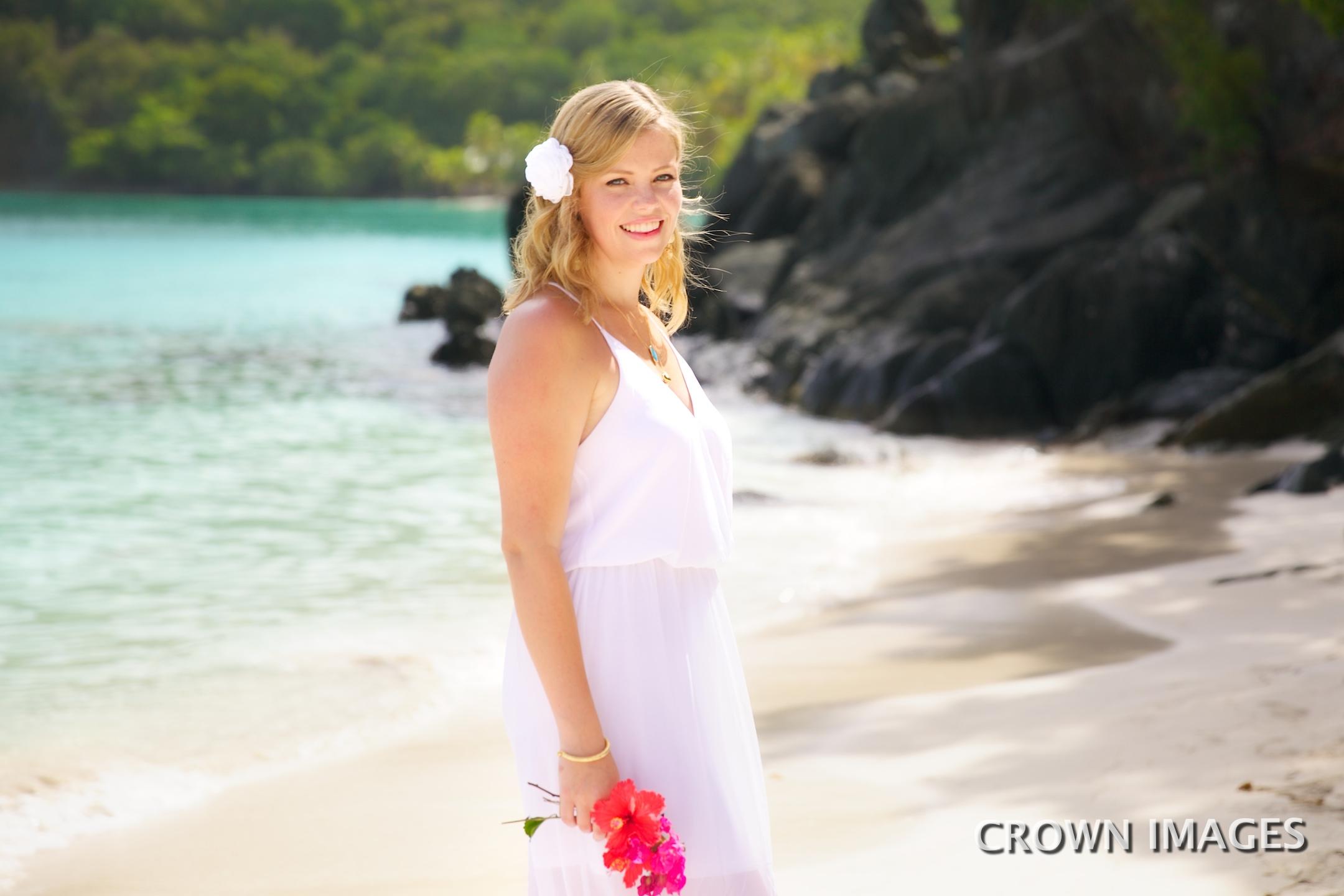 perfect wedding dress for the beach virgin islands