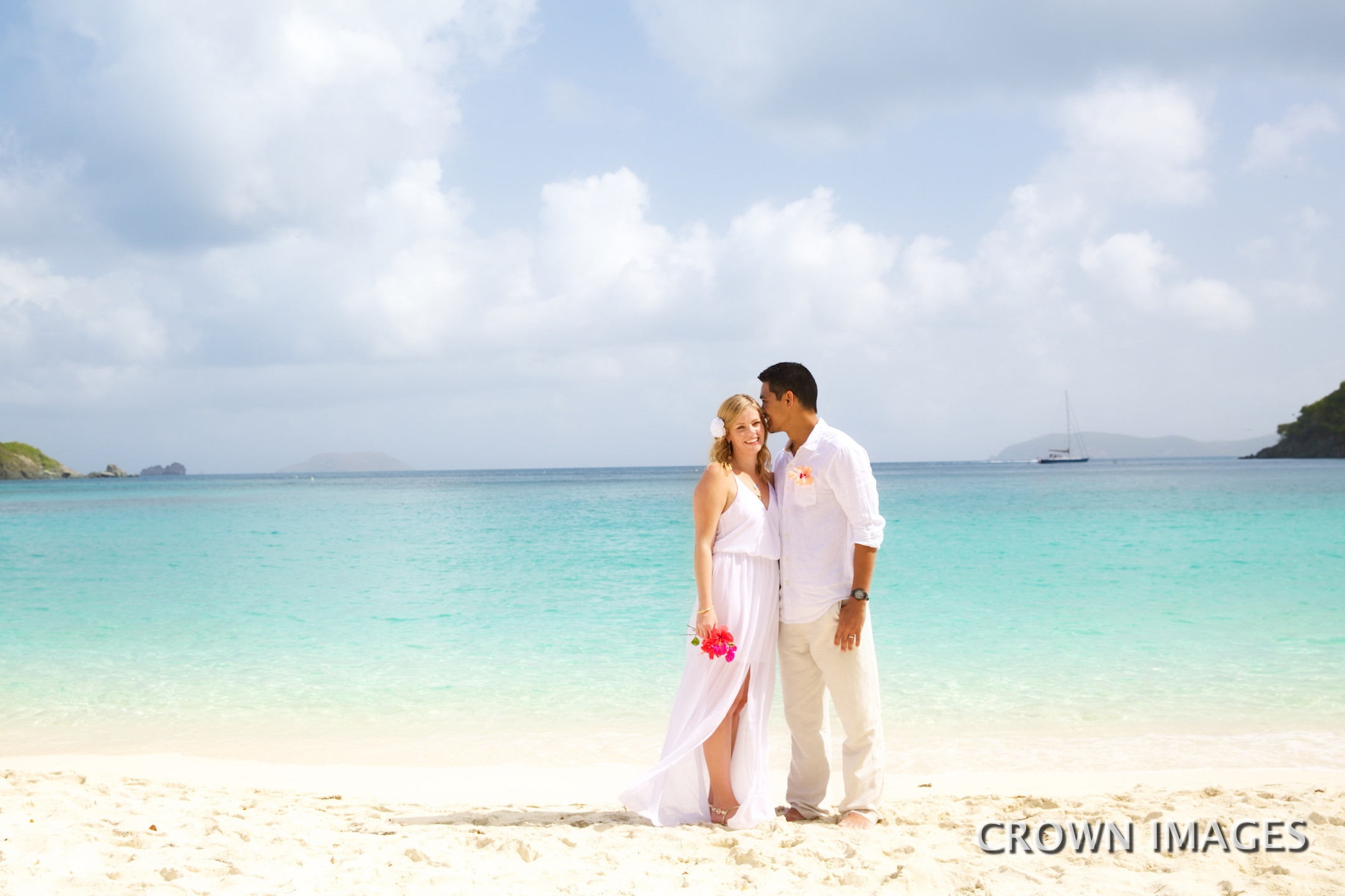 st john beach wedding