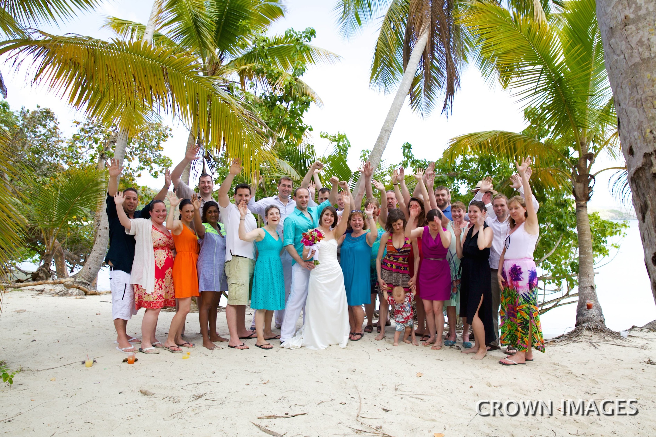 group wedding photos st john