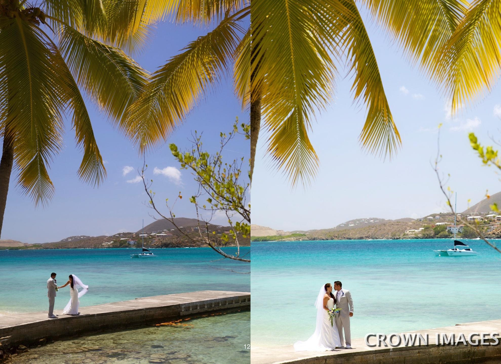 st thomas dock photos of a wedding