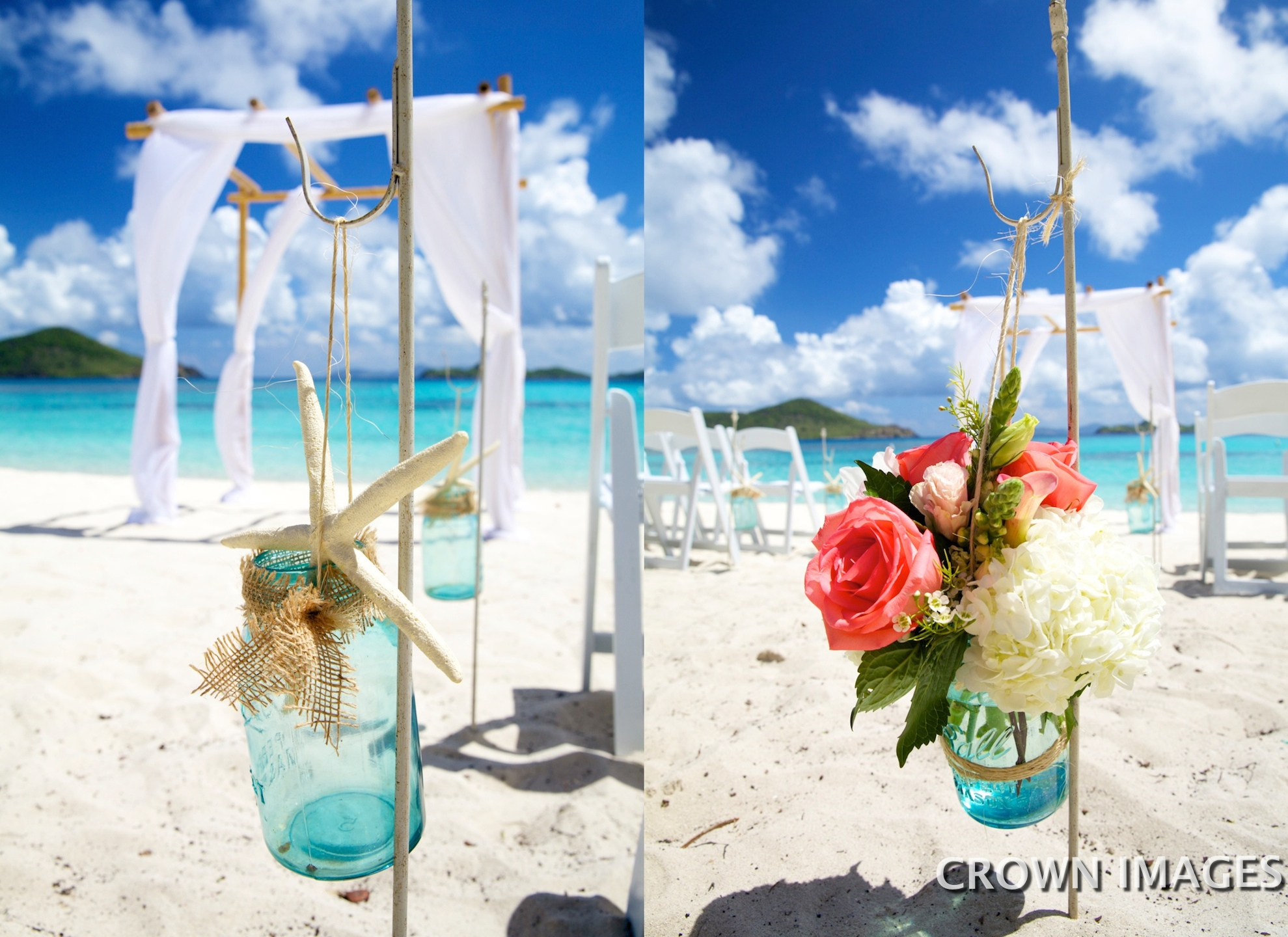 ceremony flowers for the beach st thomas