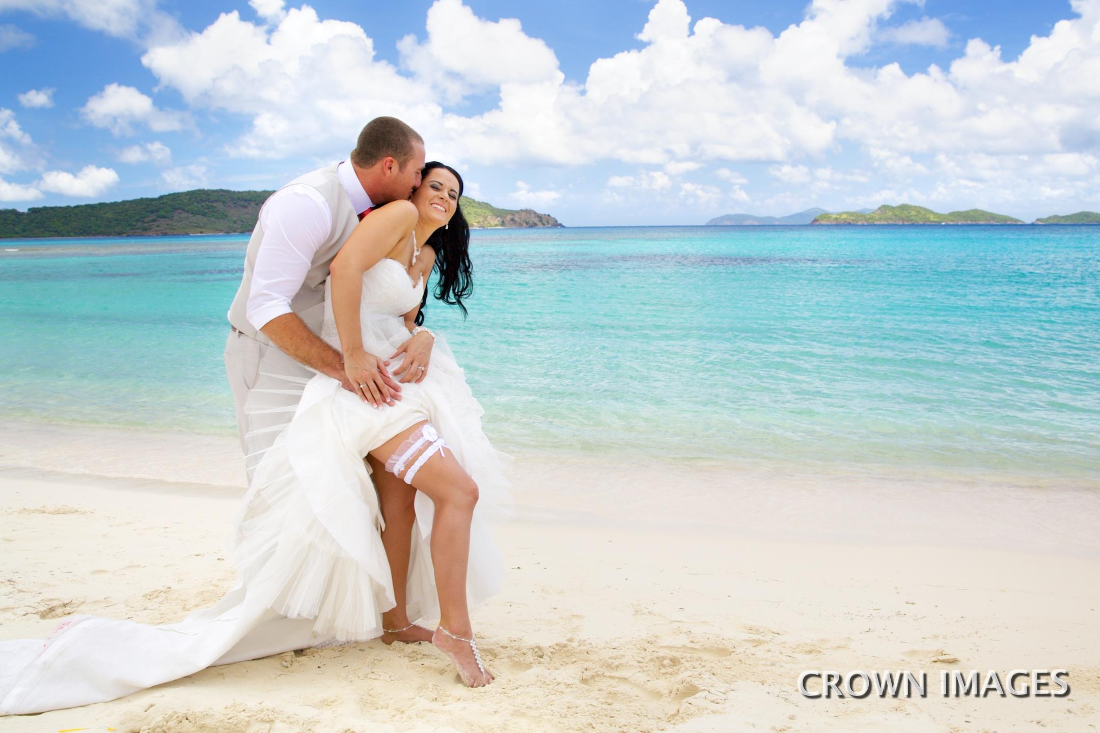 beach wedding virgin islands photo by crown images