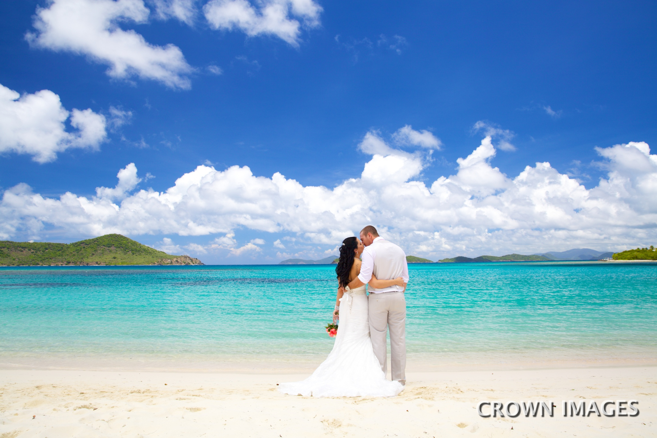 st thomas wedding at lindquist beach photo by crown images