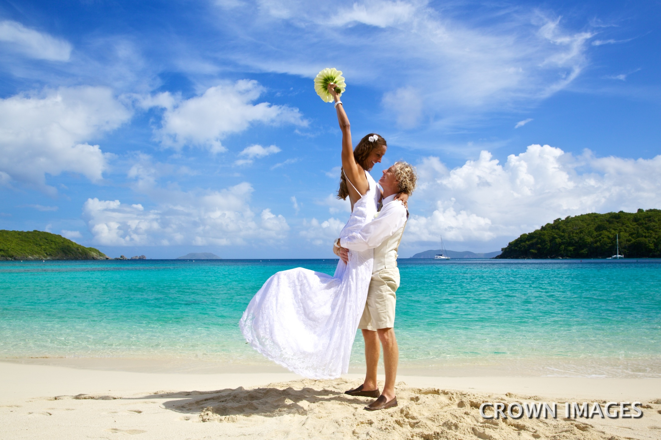 wedding on the beach virgin islands photo by crown images