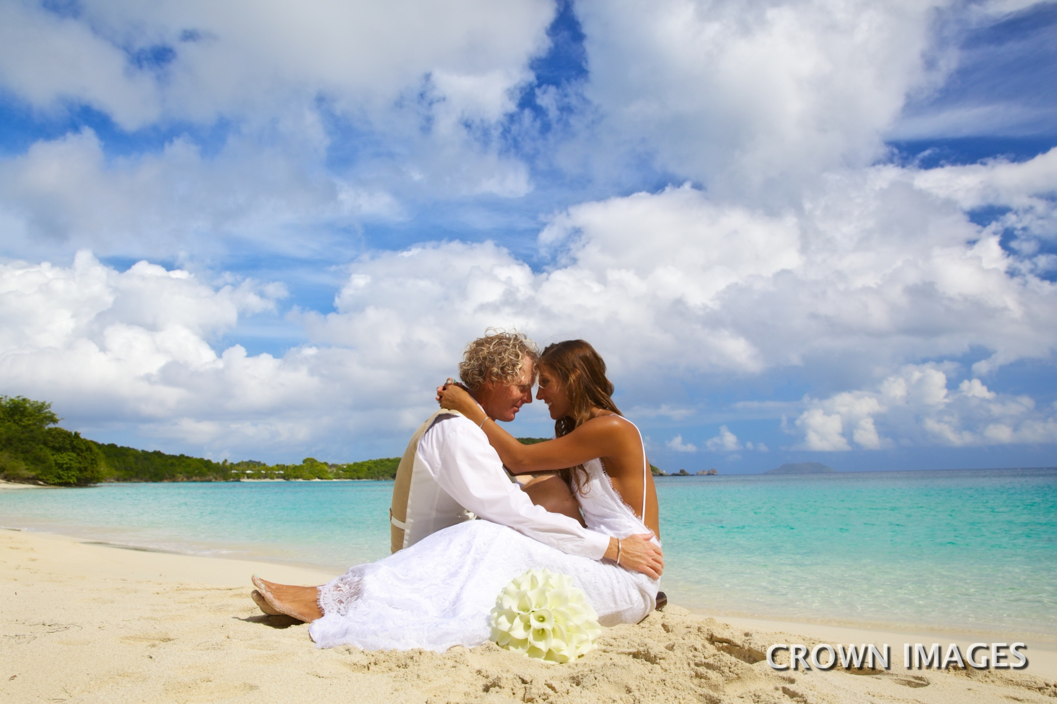 hawksnest bay beach wedding on st john photo by crown images