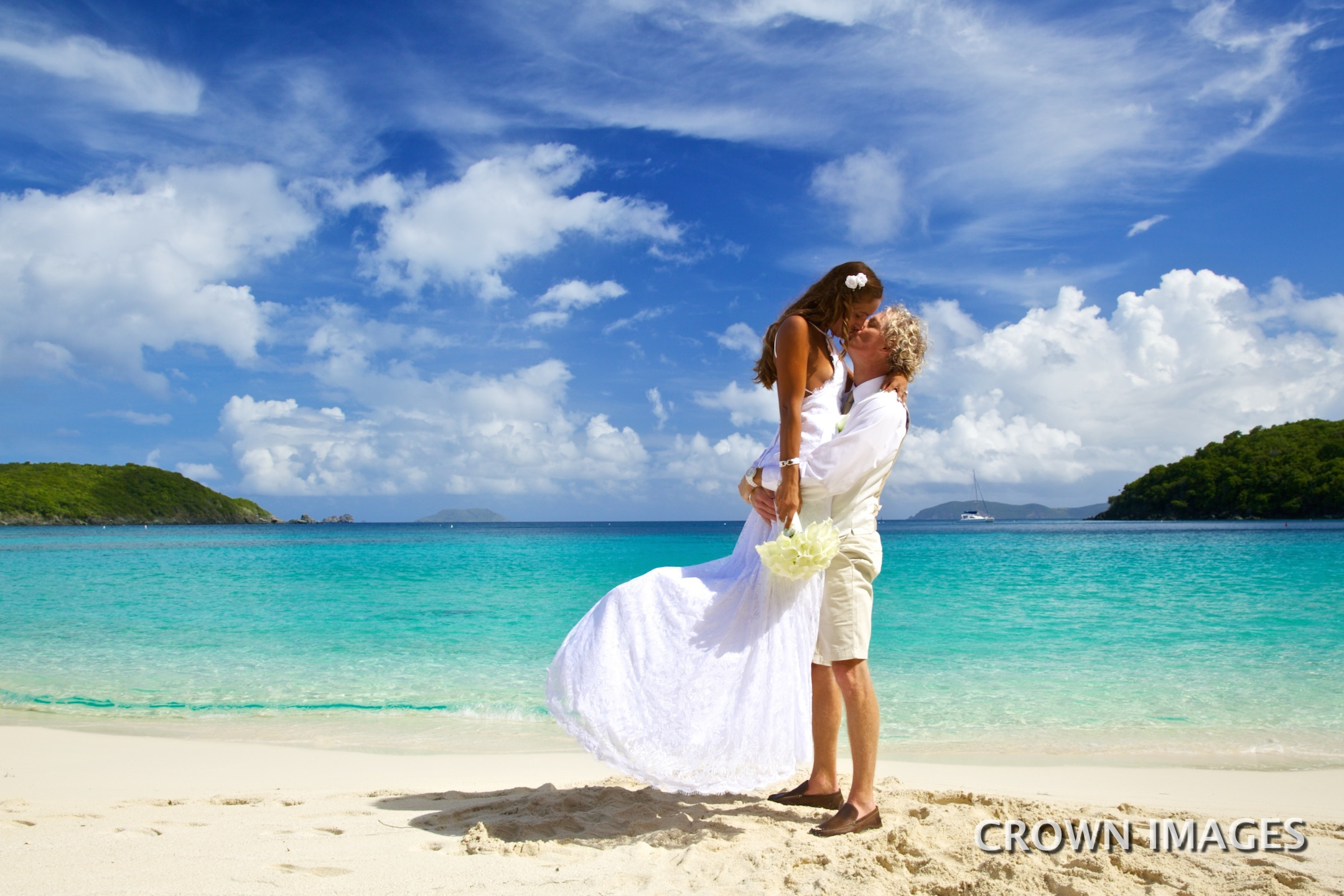 wedding photos by crown images virgin islands