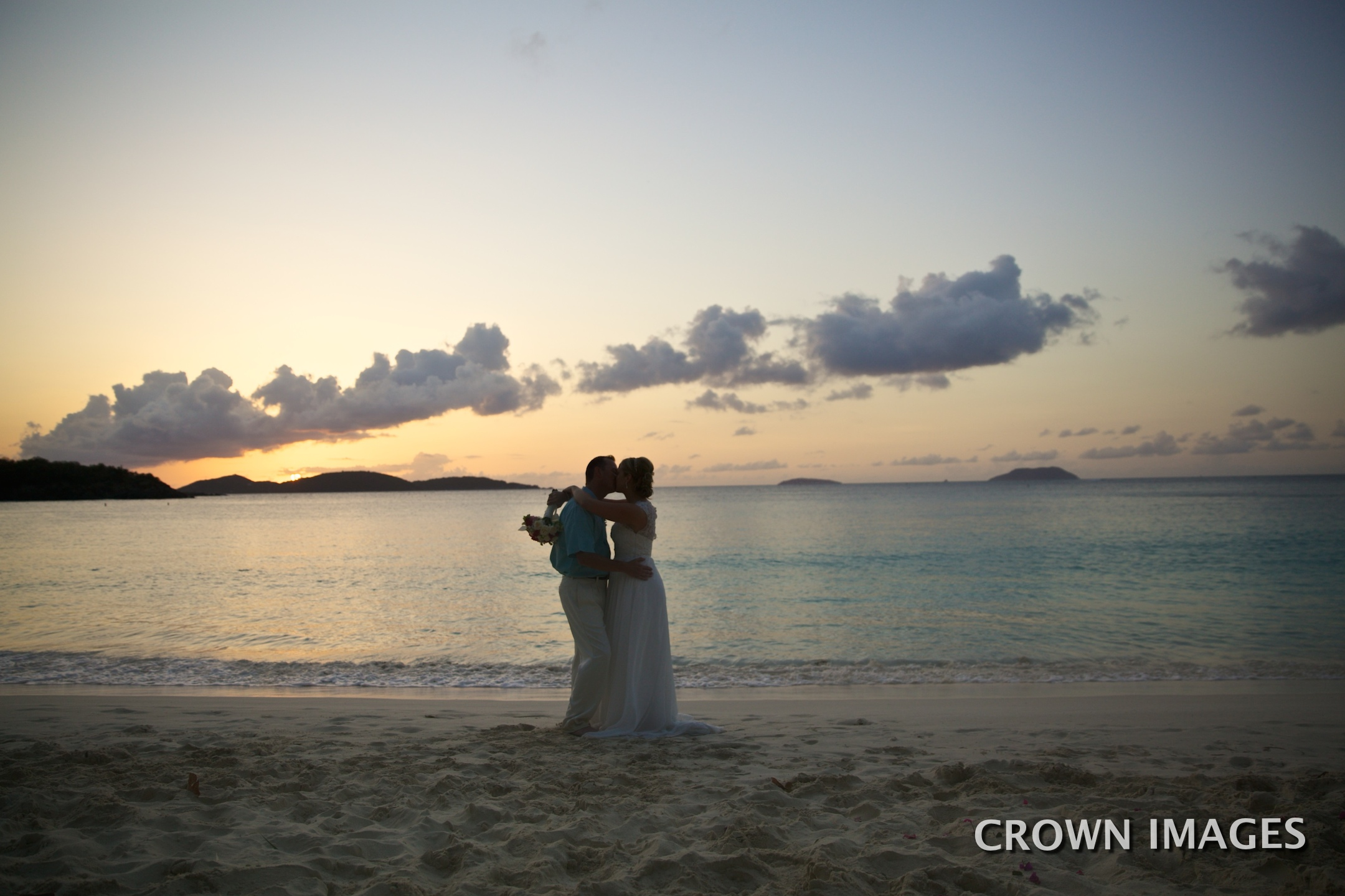 sunset wedding virgin islands photos by crown images