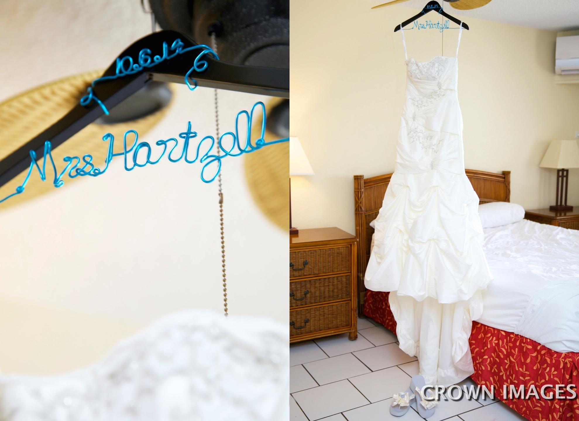getting ready for wedding at bolongo bay beach resort