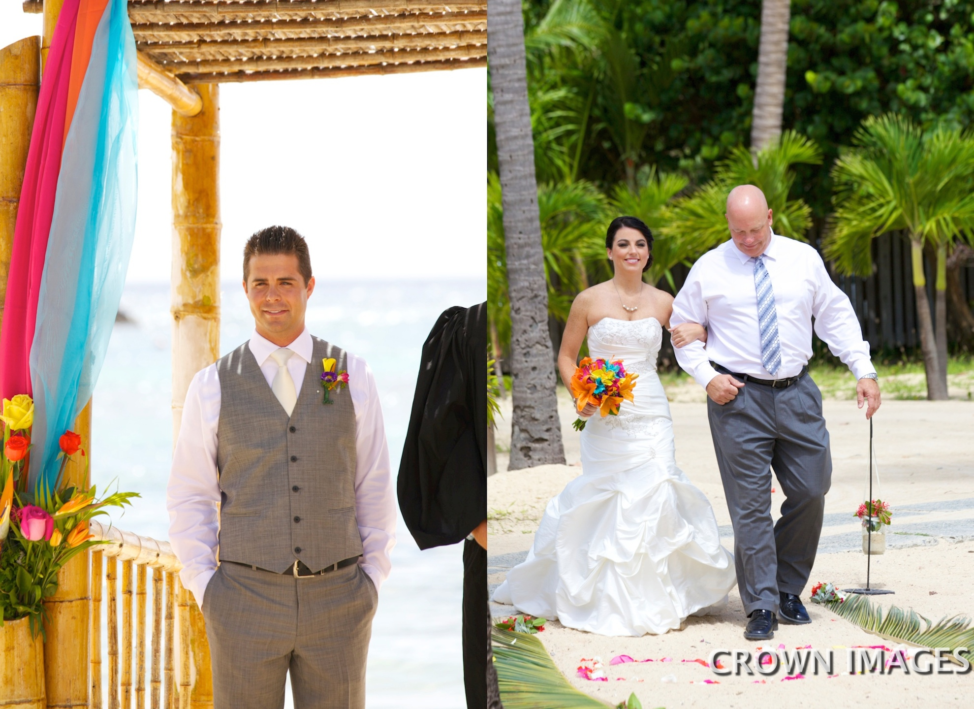 first look at wedding on st thomas