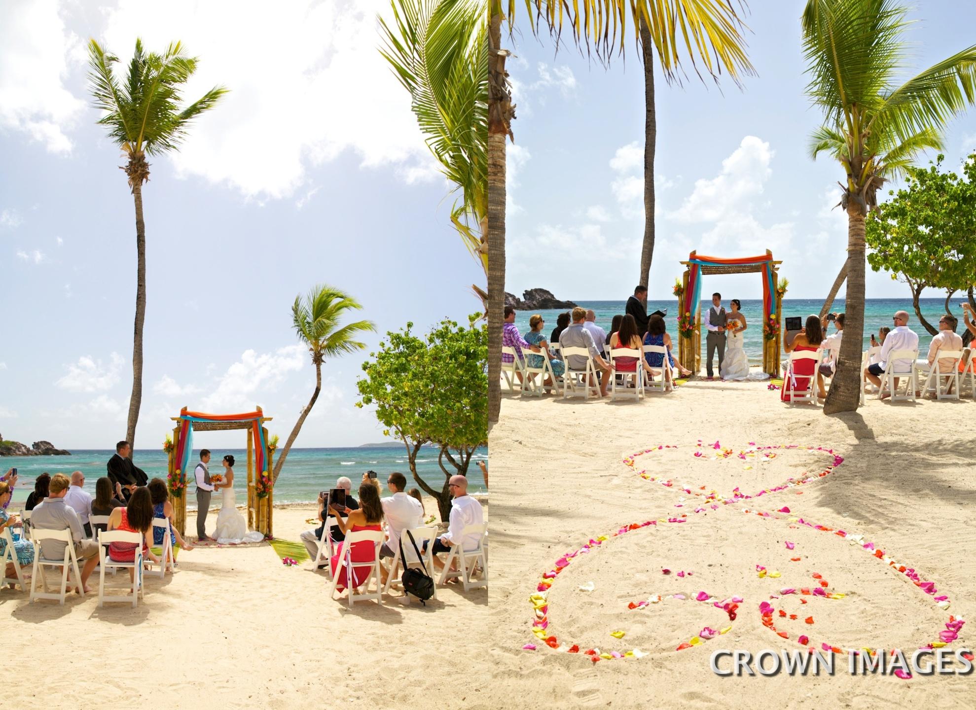 bolongo bay beach resort wedding photos by crown images