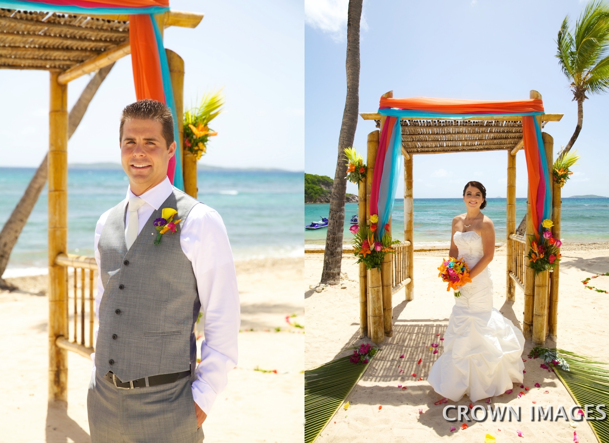 beach wedding on st thomas photos by crown images