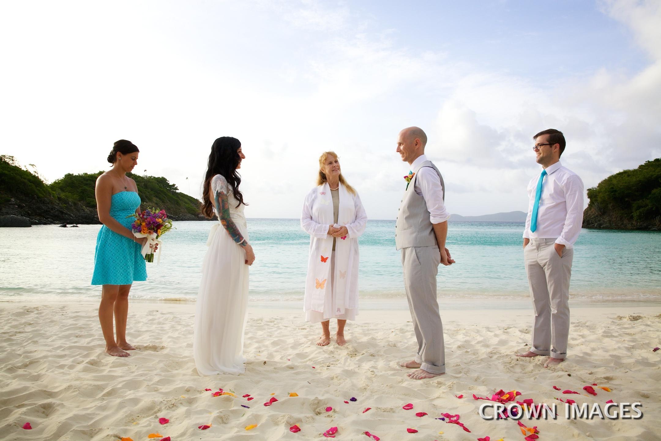 st john wedding officiant for beach ceremony