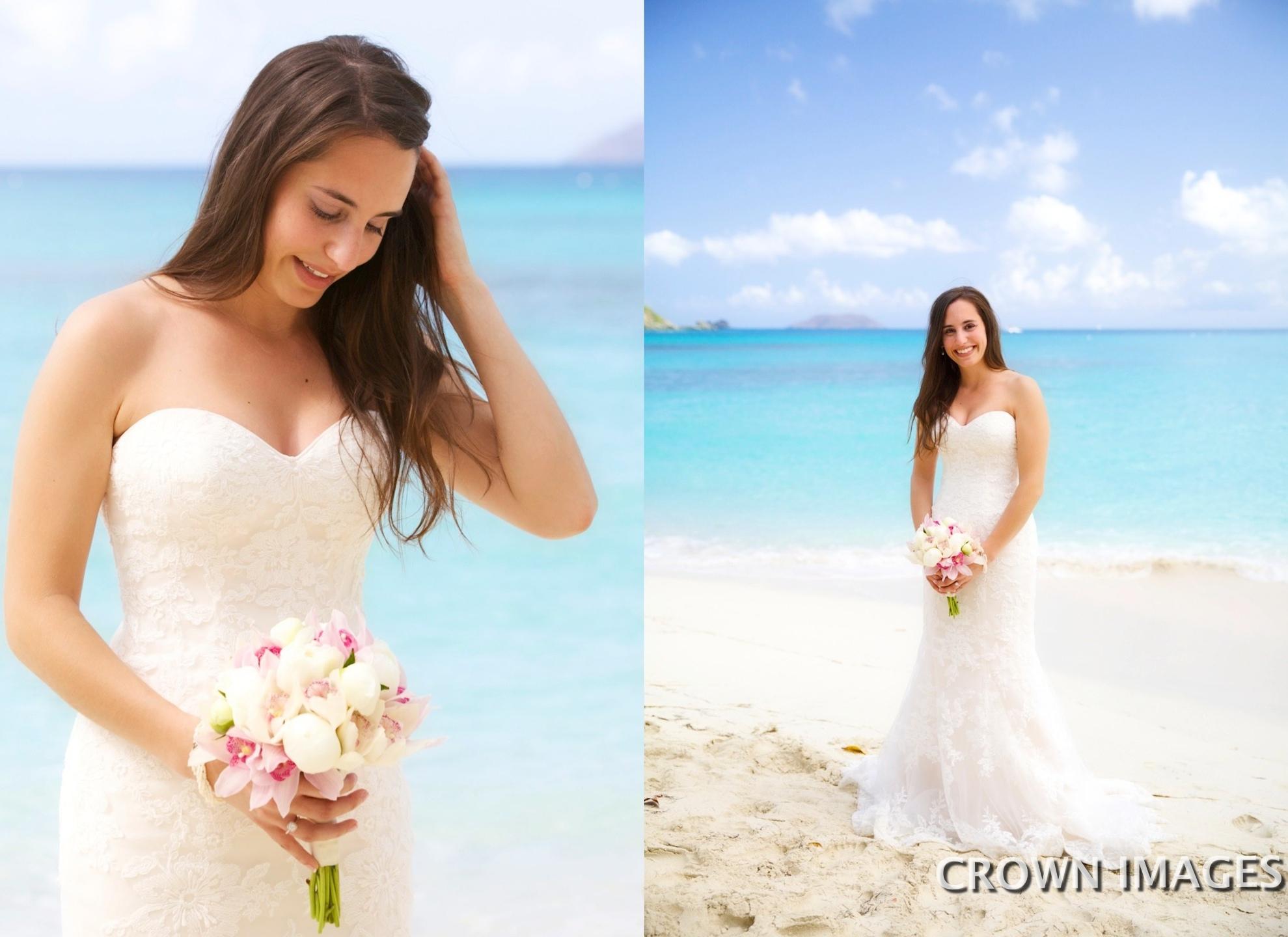 beach wedding photos st john