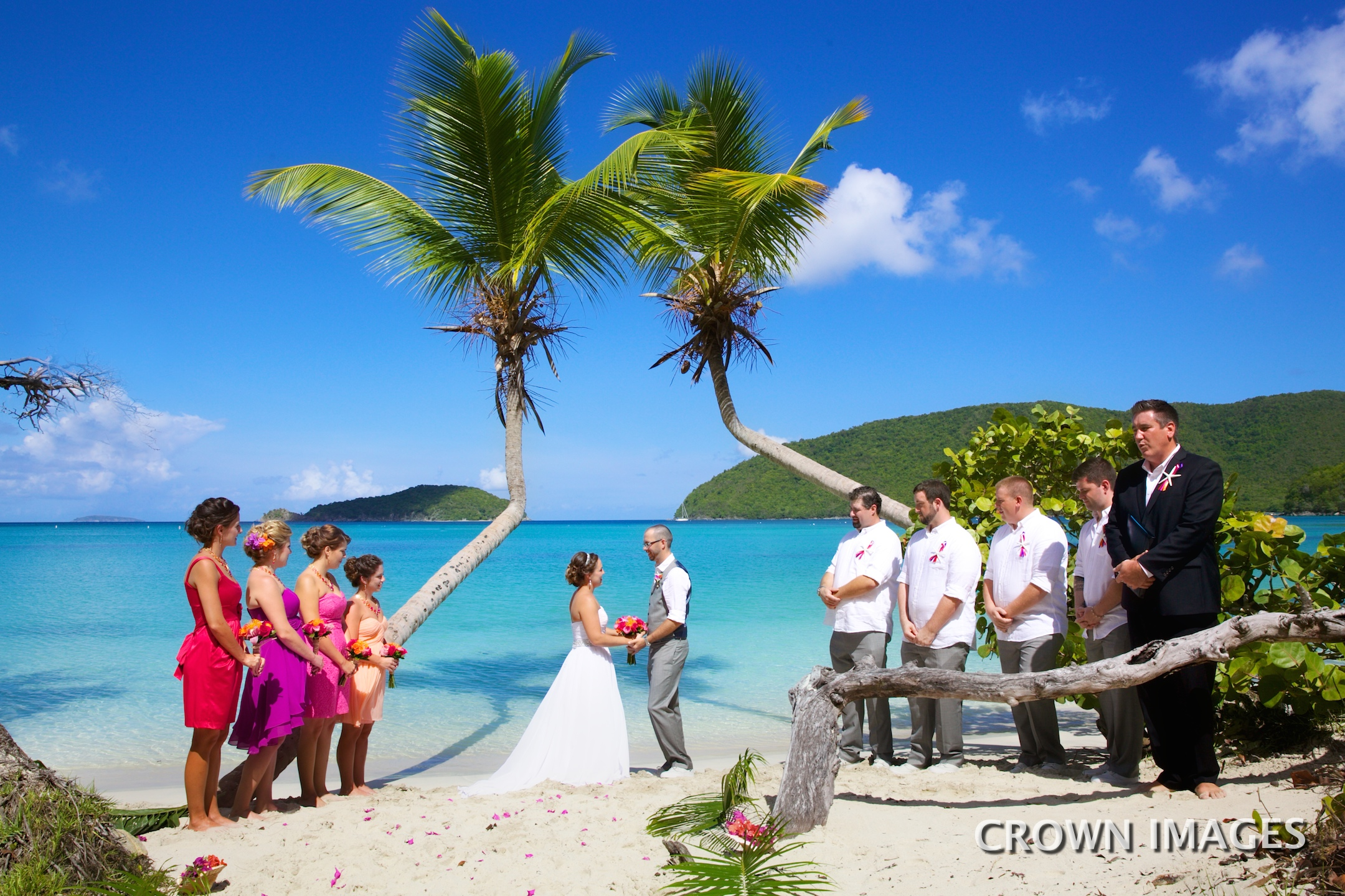 maho beach wedding location for st john ceremony photo by crown images