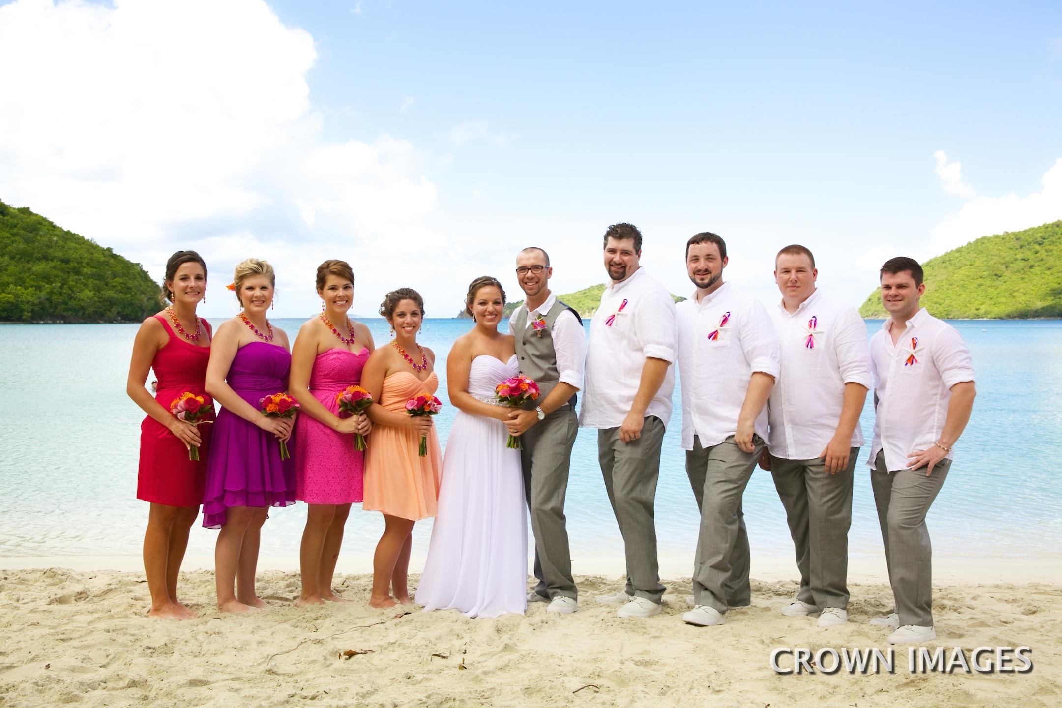 wedding photos on st john