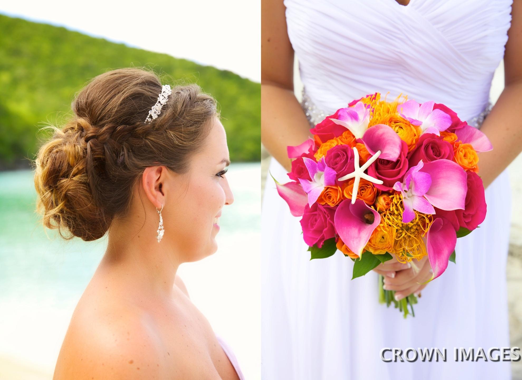 wedding flowers for a st john a bride